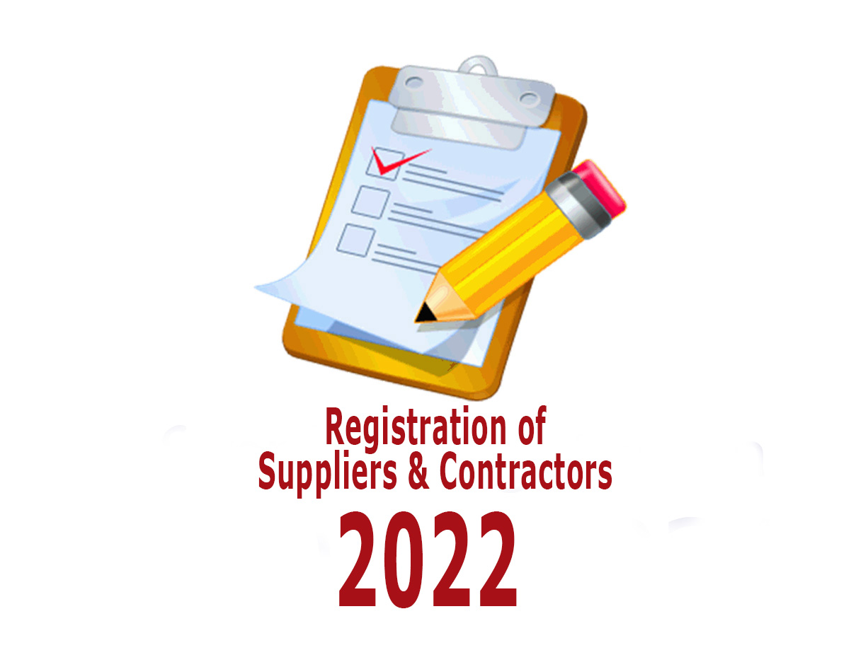 Registration of Suppliers & Contractors for the year 2022